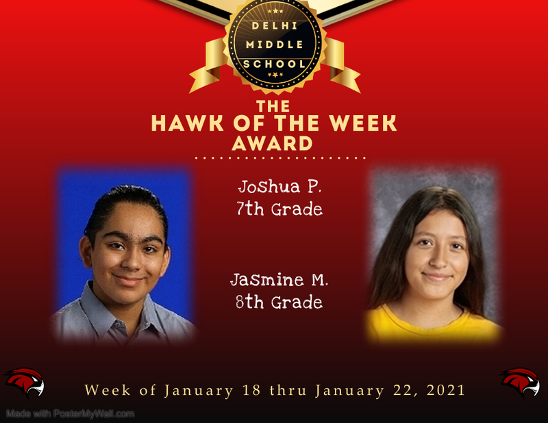 Week of January 18 thru January 22, 2021