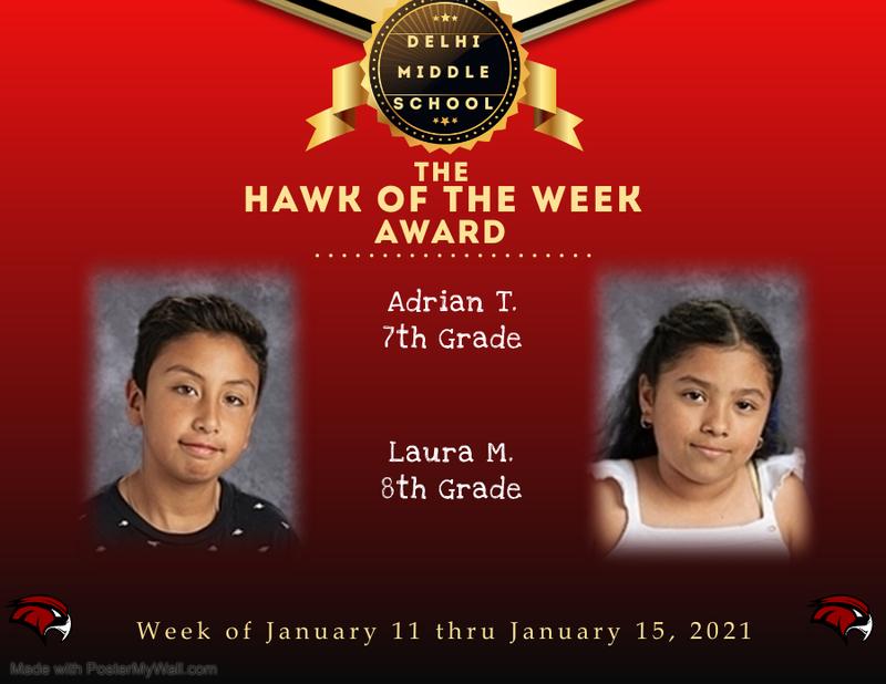 Week of January 11 thru January 15, 2021