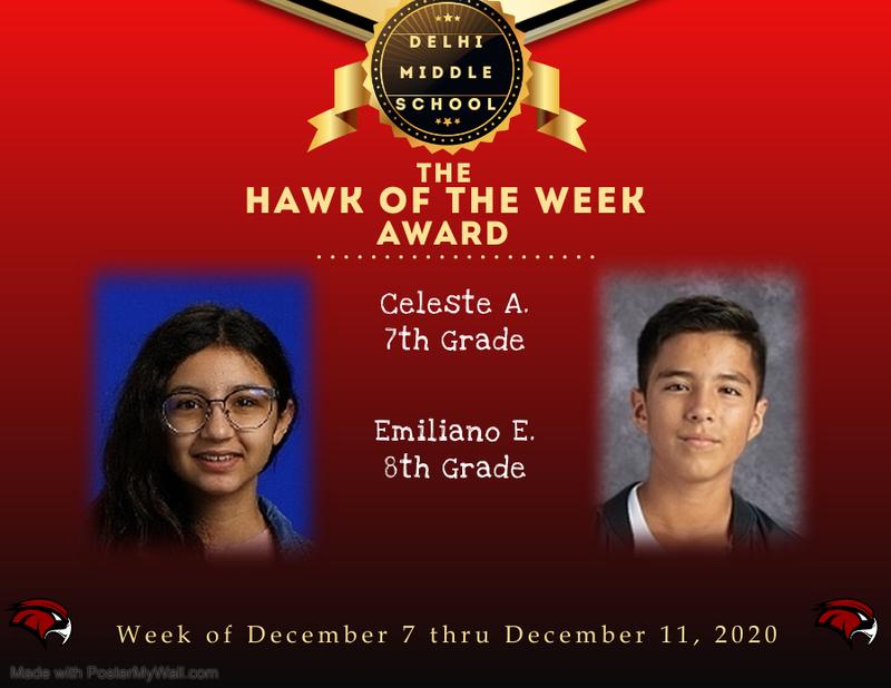 Week of December 7 thru December 11, 2020