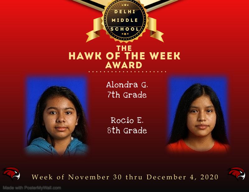 Week of November 30 thru December 4, 2020