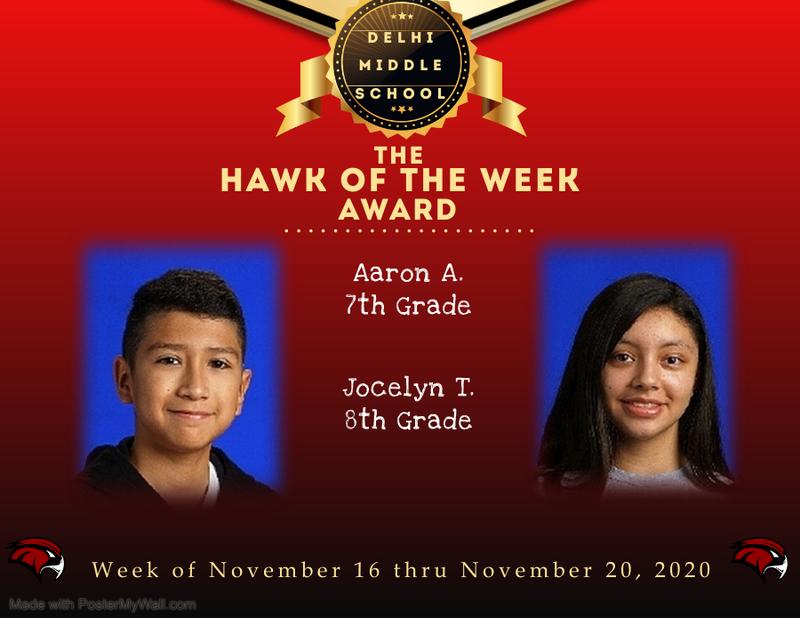 Week of November 16 thru November 20, 2020