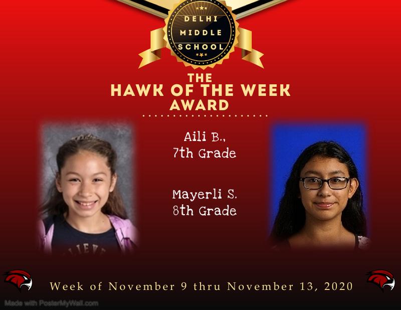 Week of November 9 thru November 13, 2020