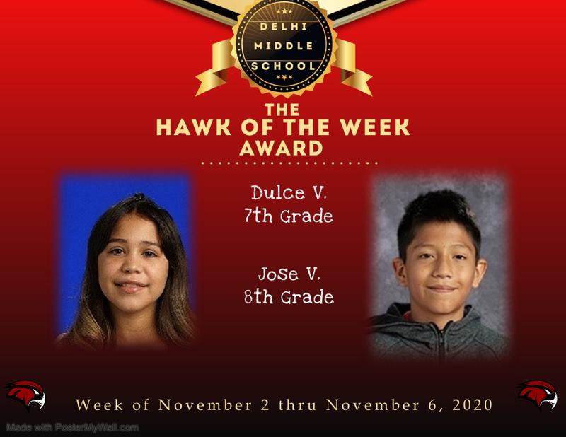 Week of November 2 thru November 6, 2020