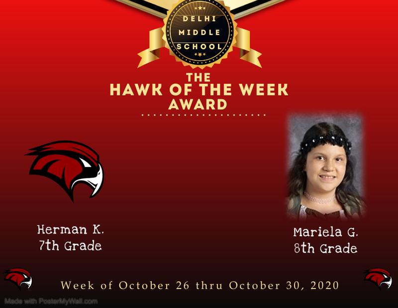 Week of October 26 thru October 30, 2020