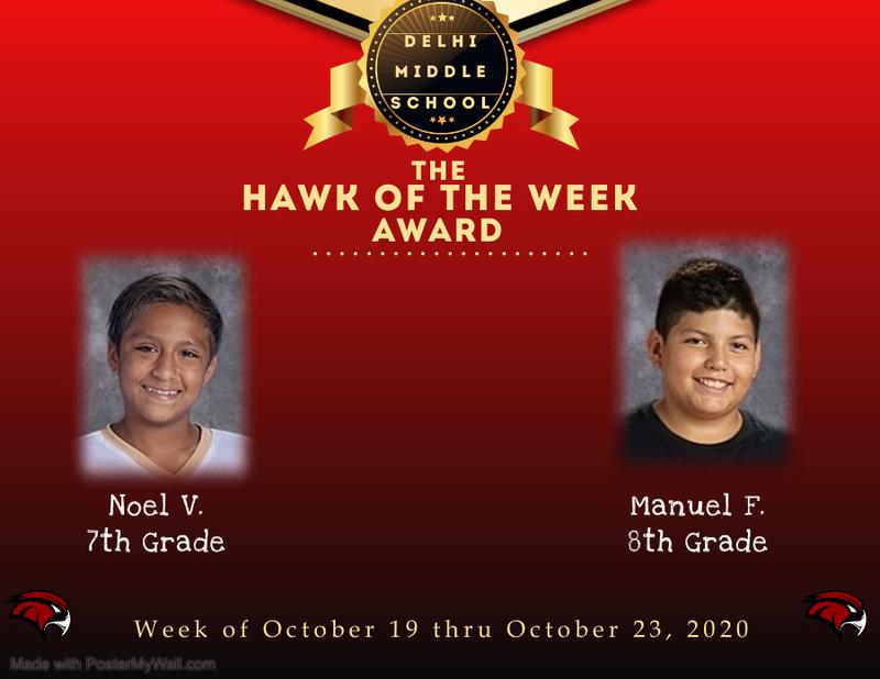 Week of October 19 thru October 23, 2020