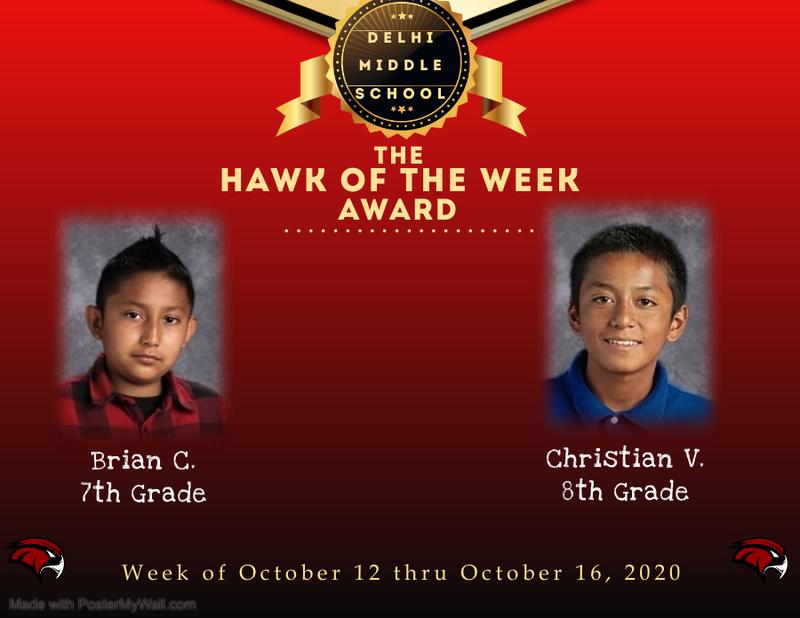 Week of October 12 thru October 16, 2020
