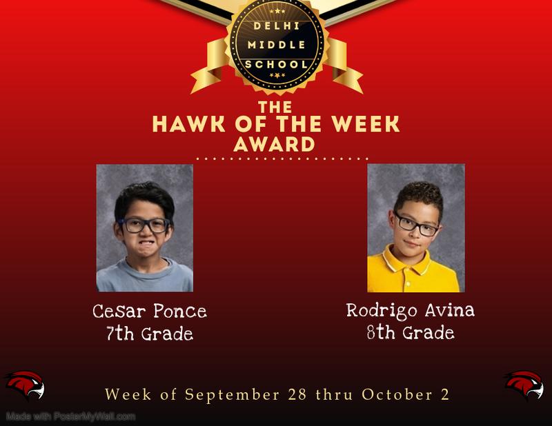 Week of September 28 thru October 2, 2020