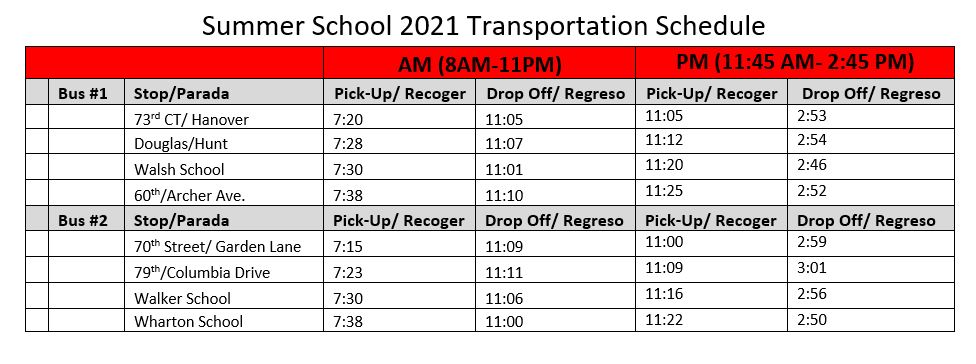Bus times