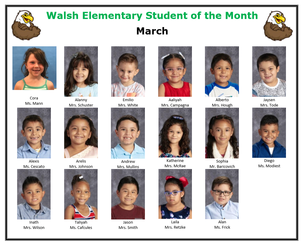 Walsh Student of the Month