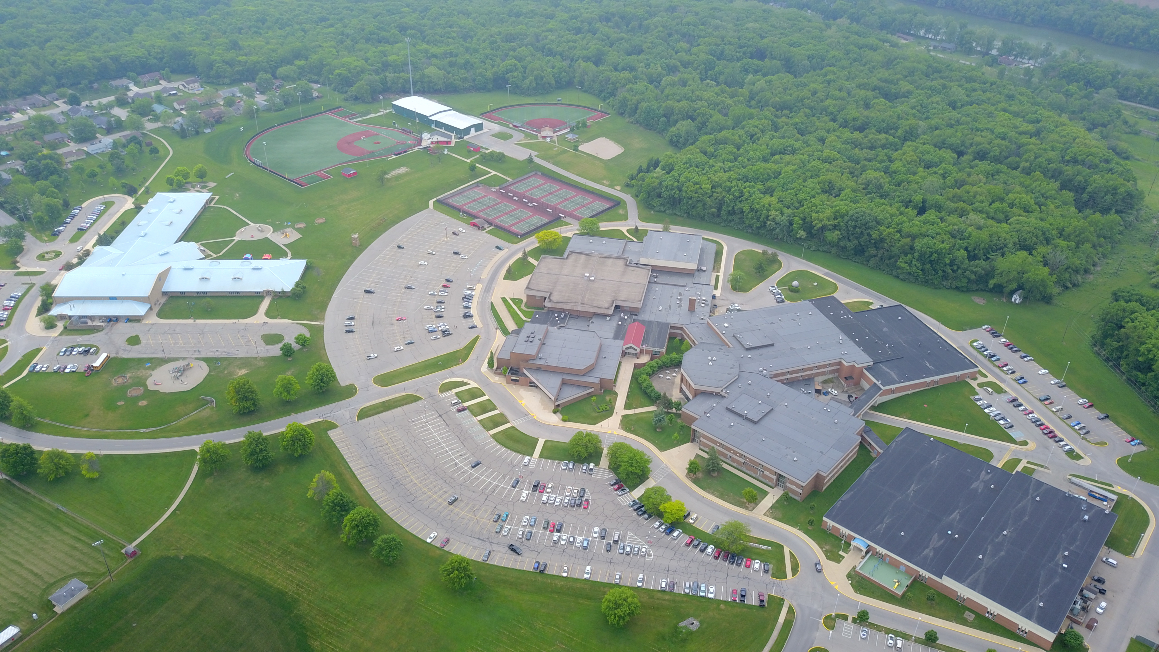 drone picture of LHS