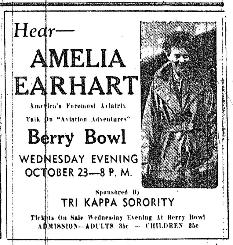 Hear Amelia Earhart
