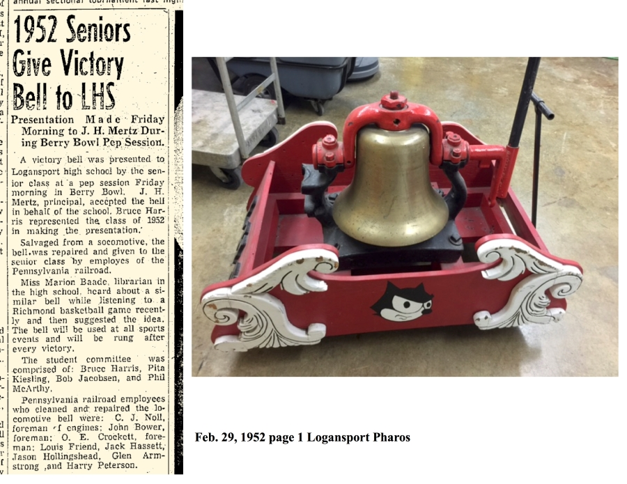1952 Seniors Give Victory Bell to LHS