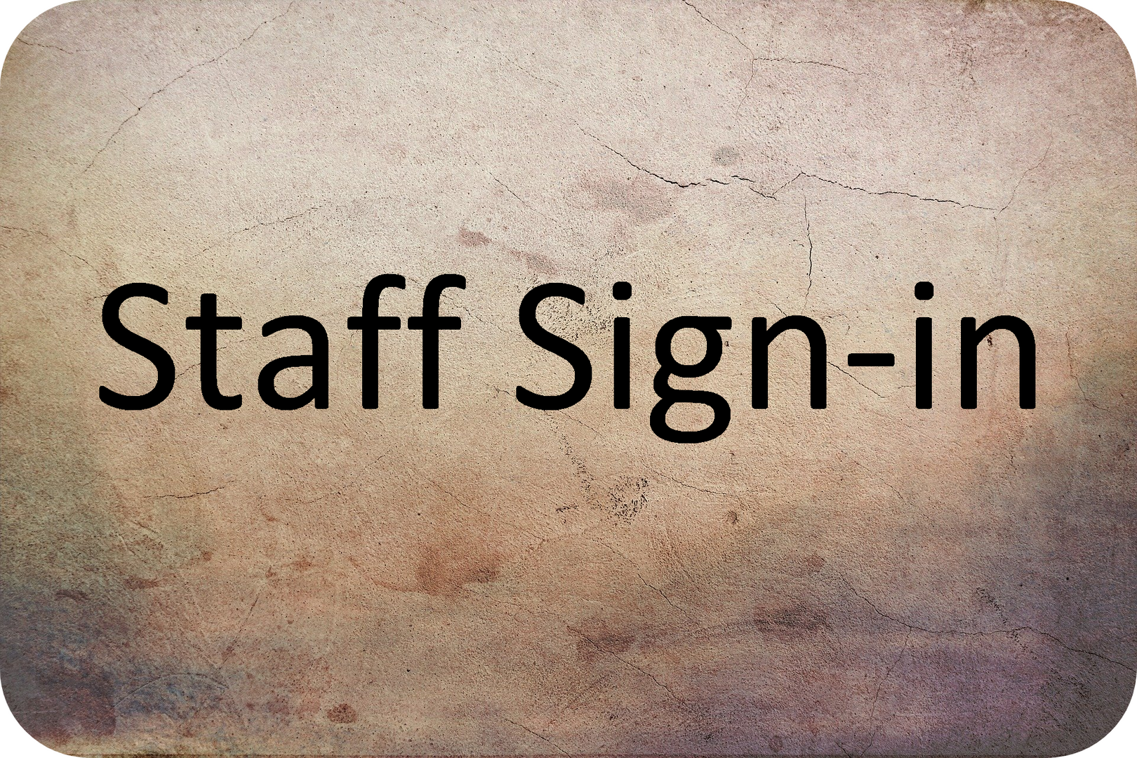 Staff Sign in