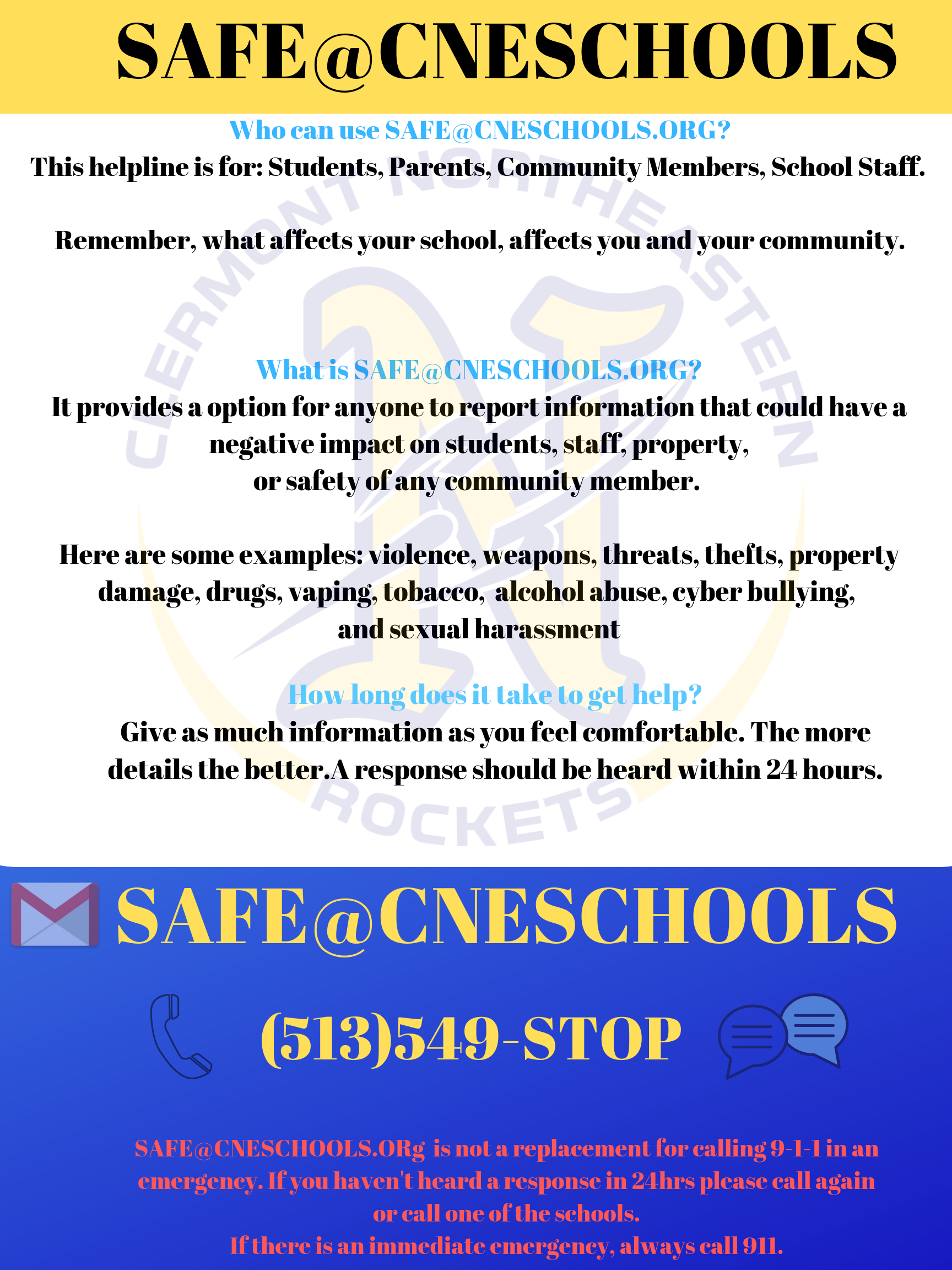 SAFE@CNESCHOOLS INFO