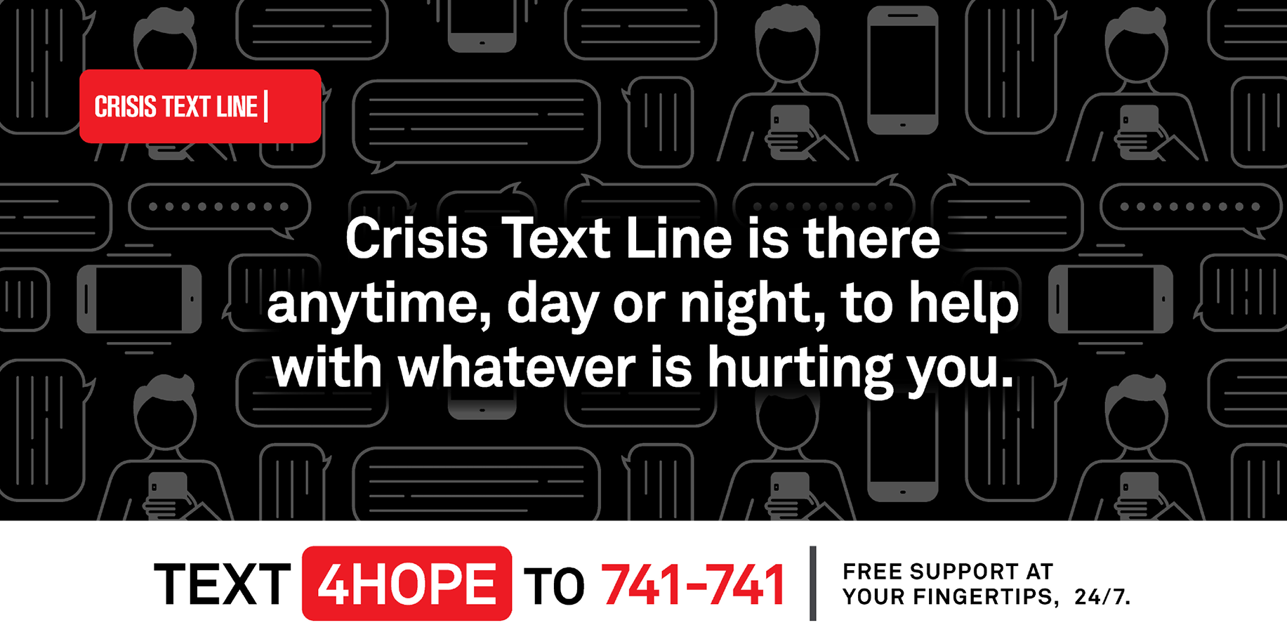 TEXT 4HOPE TO 741-741 INFO