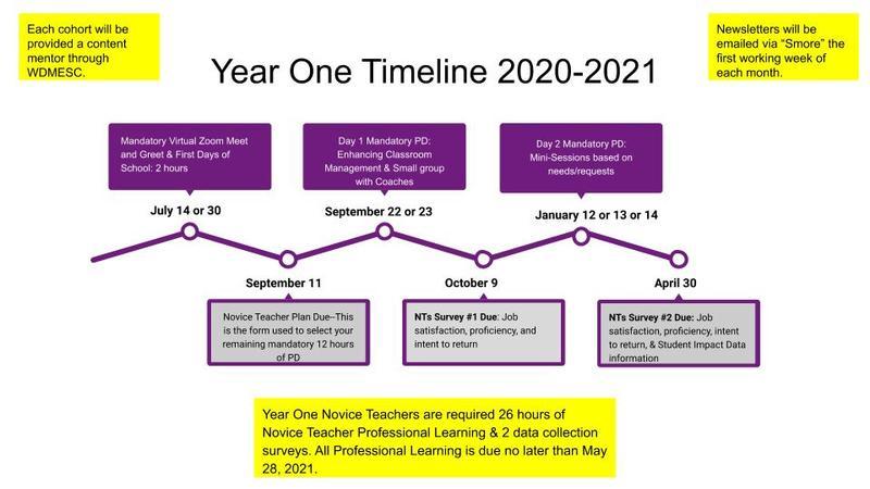 Year one timeline