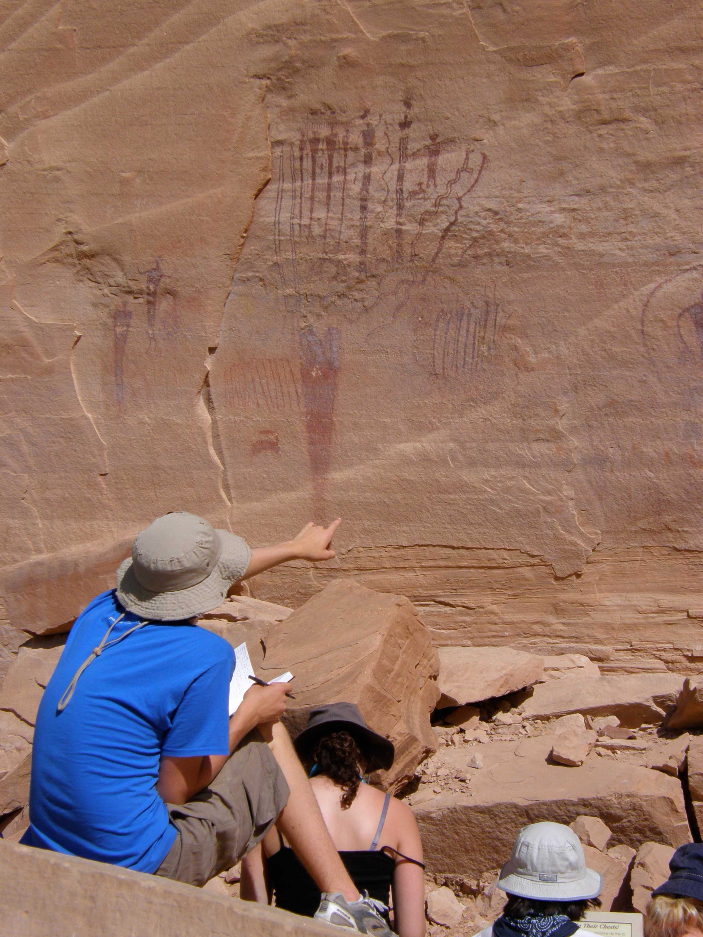 photo of Pictographs from the Fremont Culture. San Rafael Swell, Utah