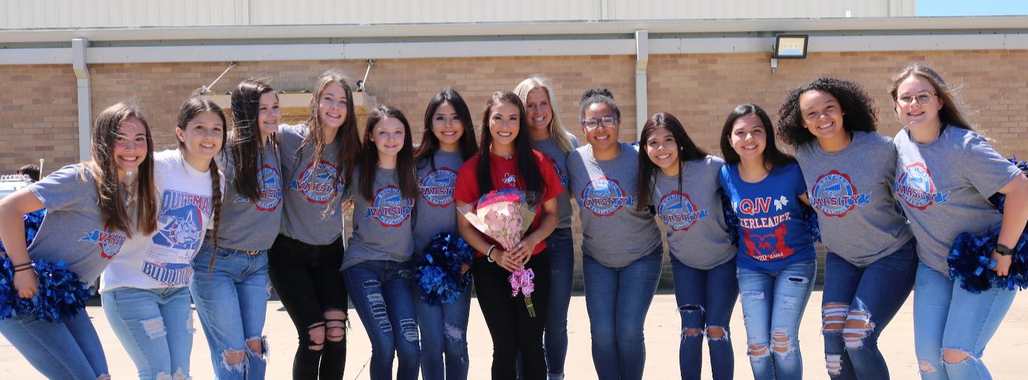 marcee and cheerleaders