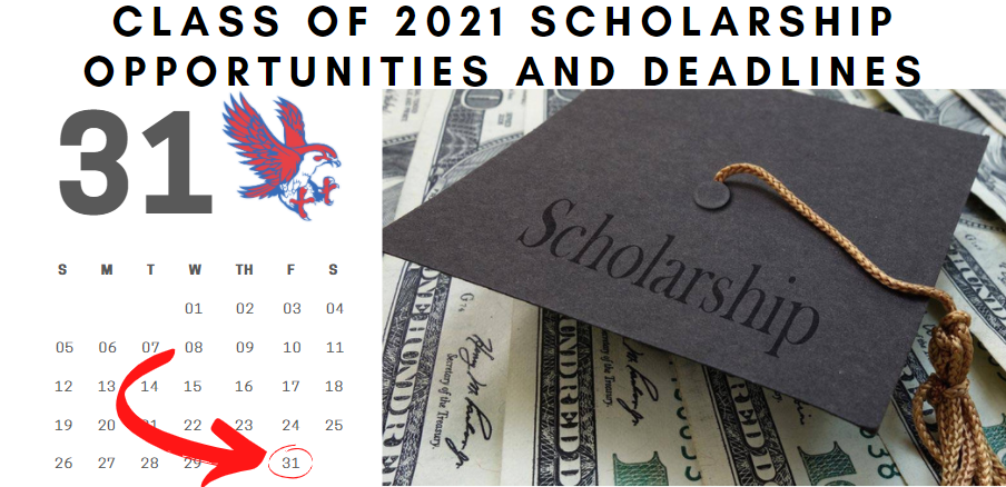 Class of 2021 Scholarship Opportunities and Deadlines