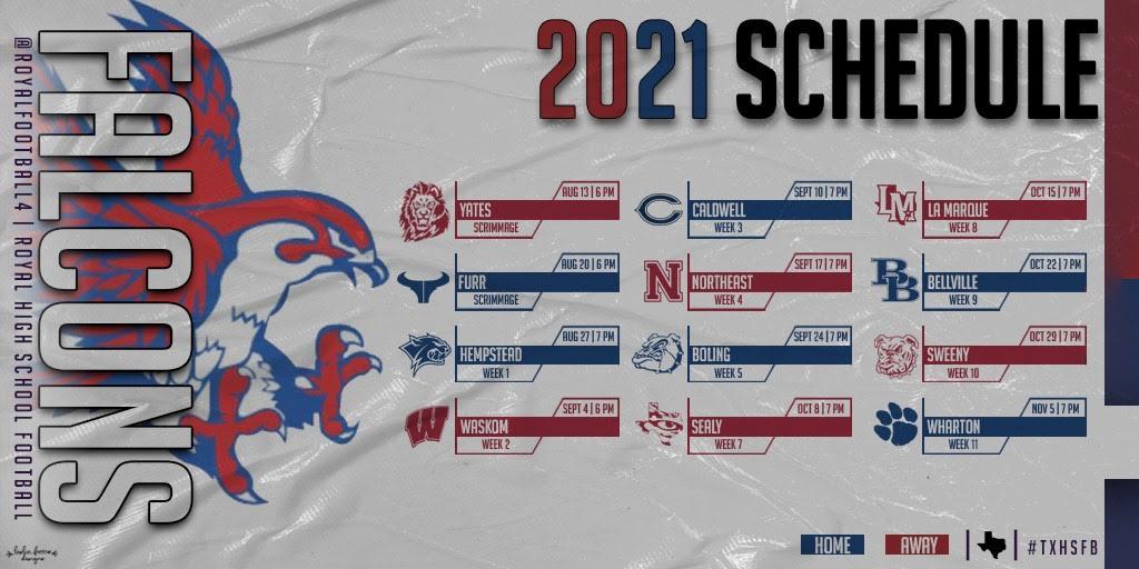 2021 Royal High School Football Schedule