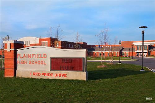 photo of plainfield high school building