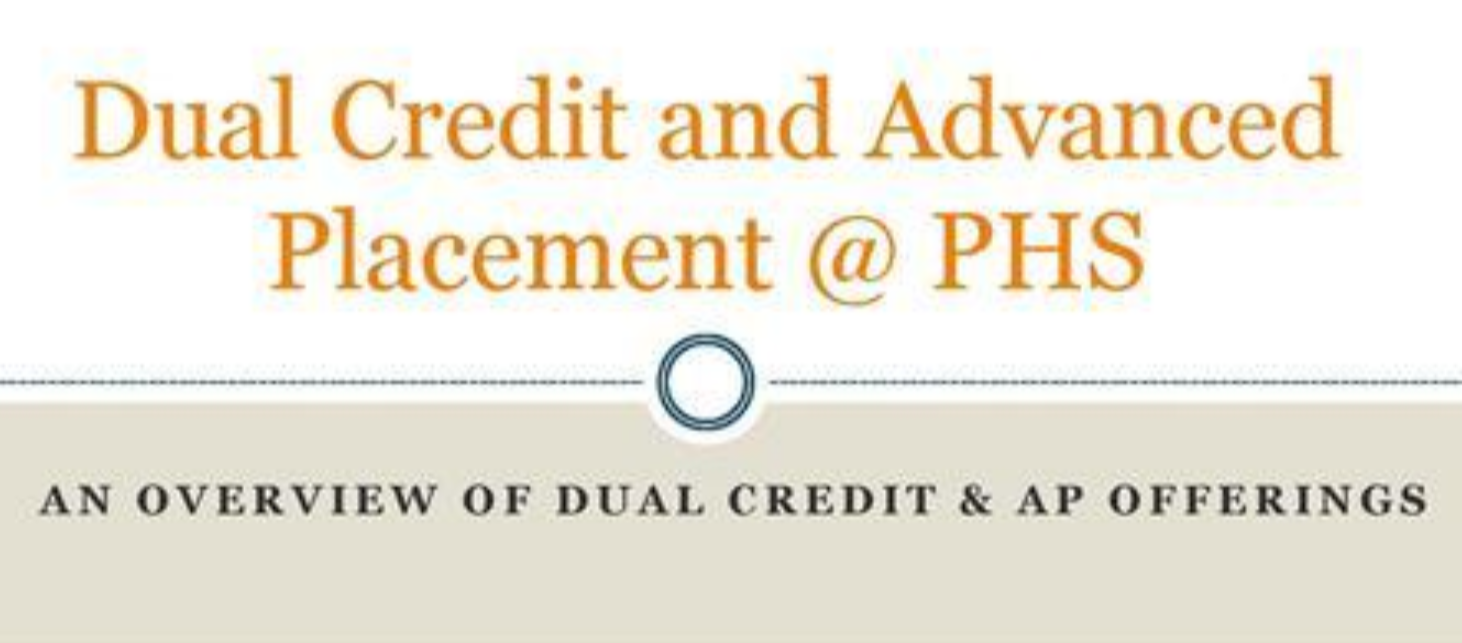Dual credit and advanced placement at PHS