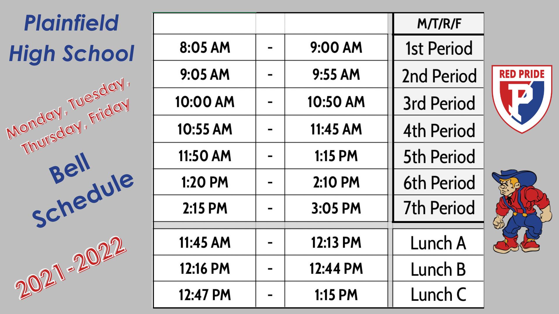 MTThF Schedule