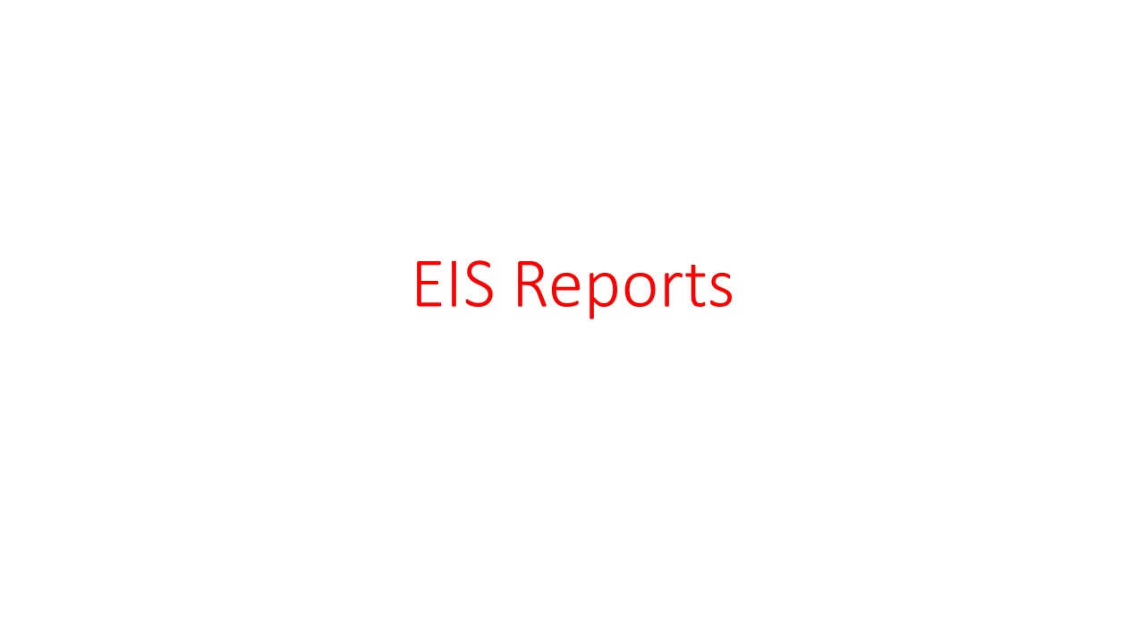 EIS Reports
