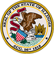 state seal of Illinois - state required information