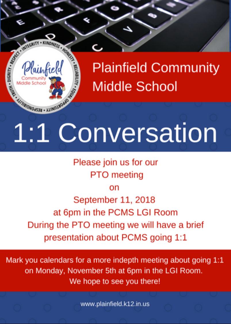 1:1 conversation flyer