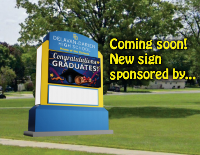 High School Sign Render