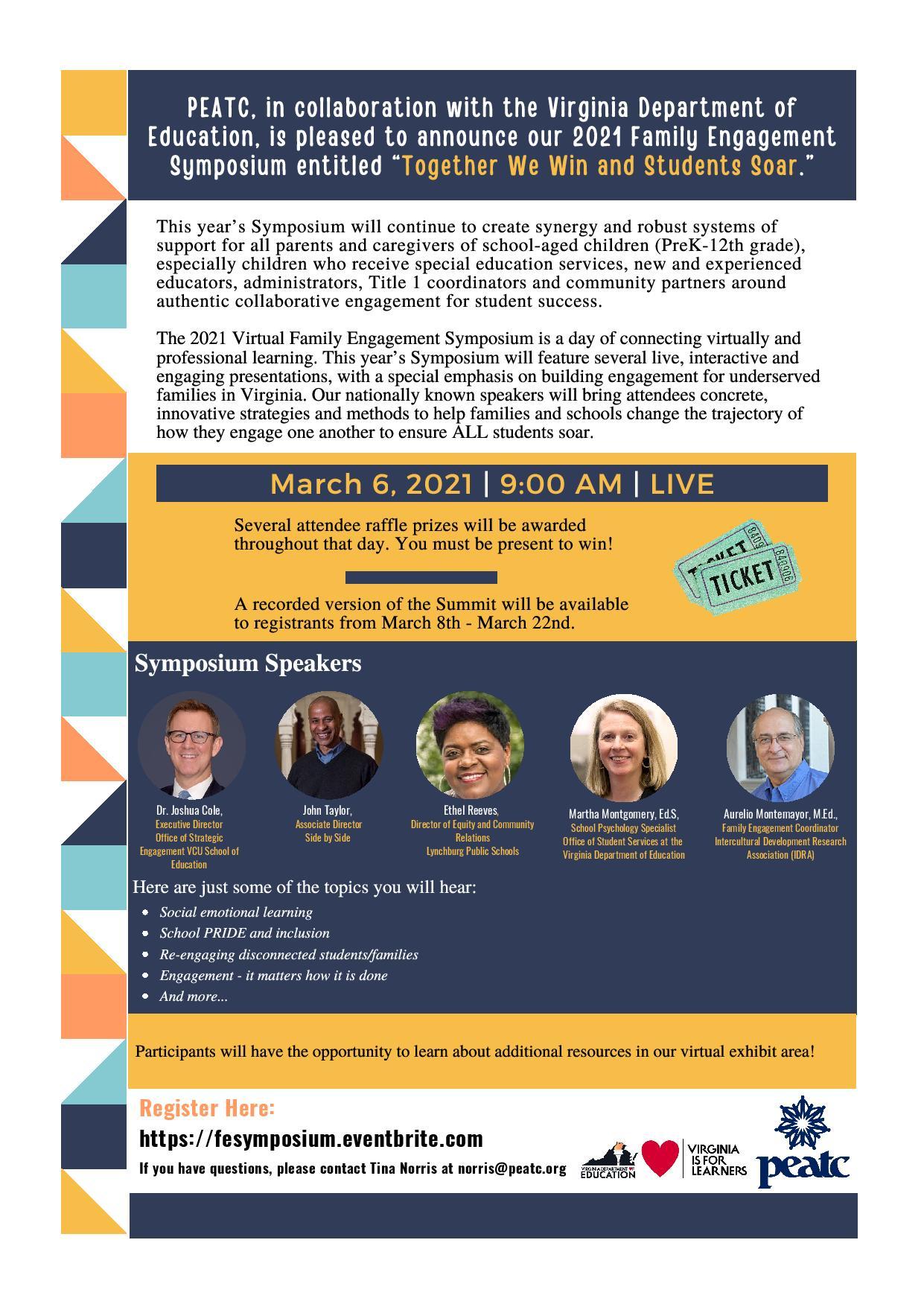 2021 Family Engagement Symposium