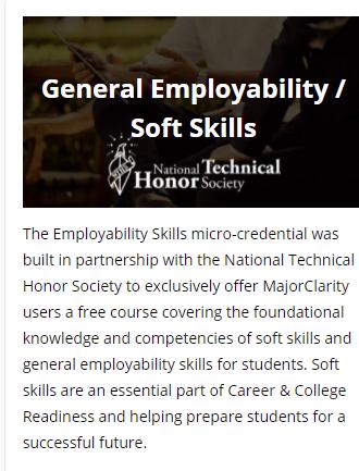 Micro-credential course in Major Clarity
