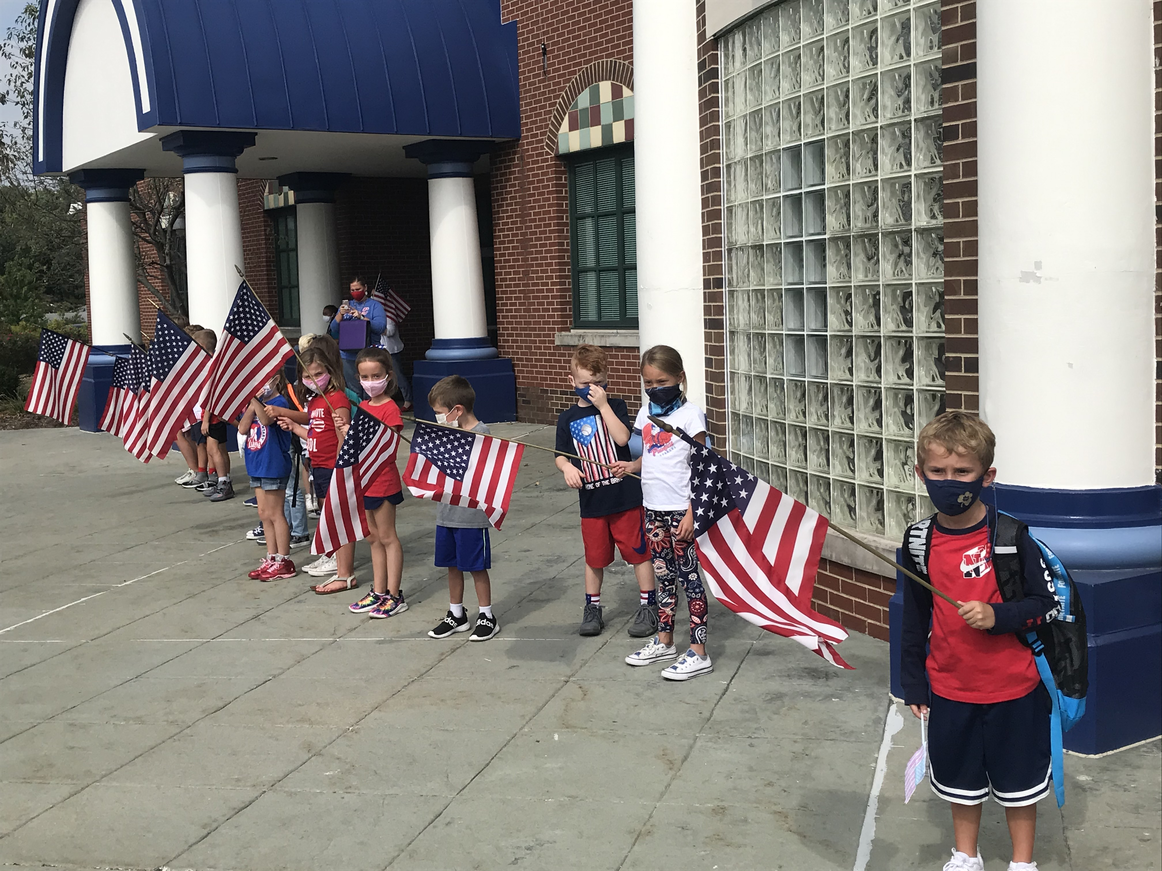 Students ended Patriot Day with a silent dismissal and a display of patriotism