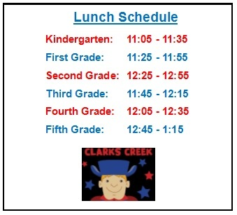 lunch schedule picture