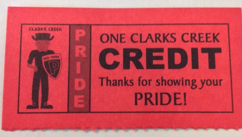 clarks creek credit ticket