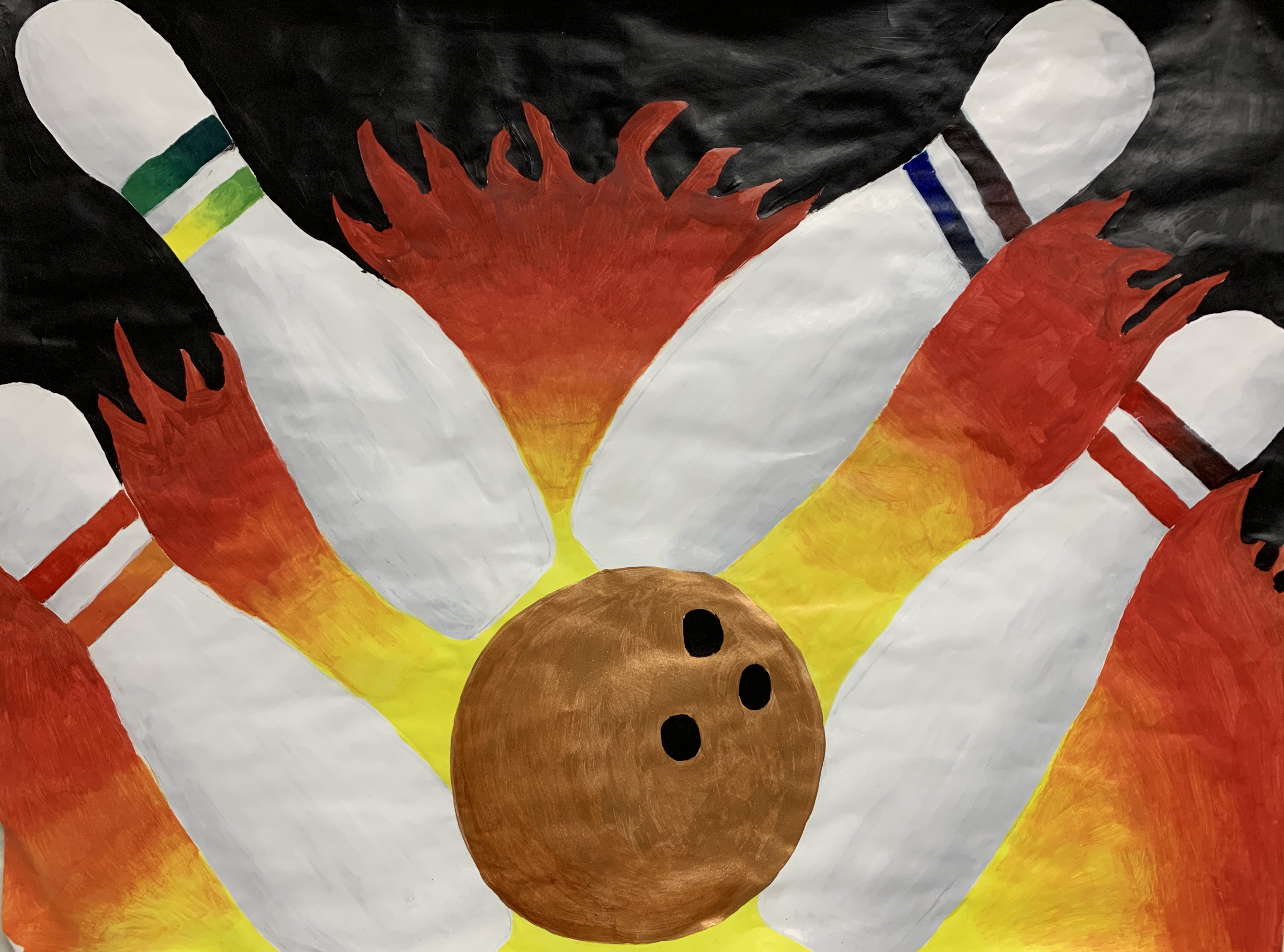Students color wheel project - bowling