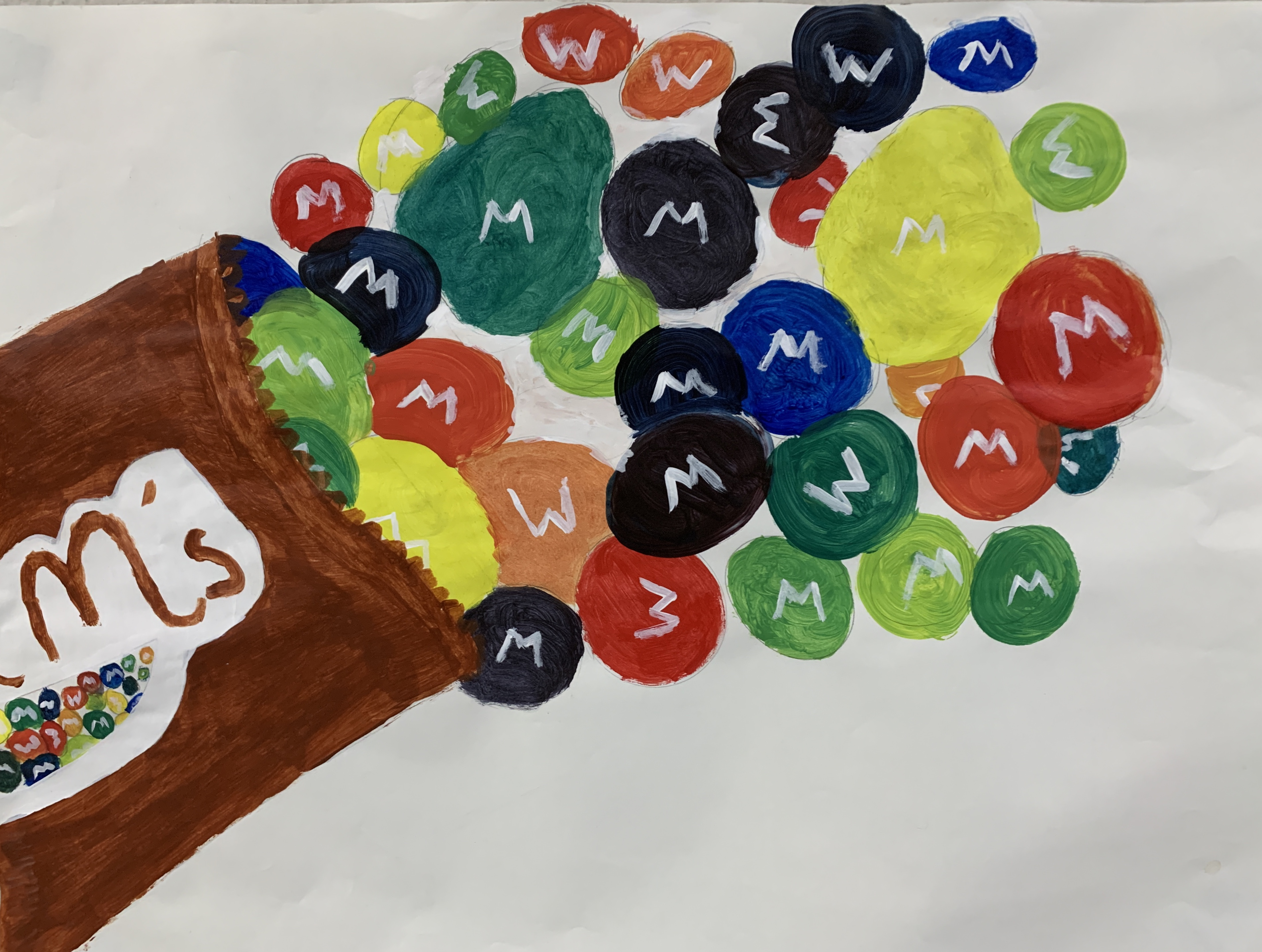 Students color wheel project - M&Ms