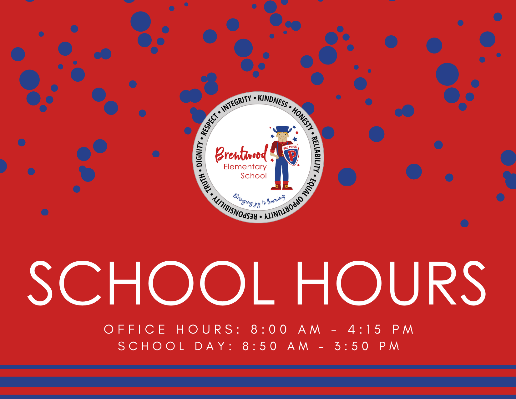 BRENTWOOD SCHOOL HOURS