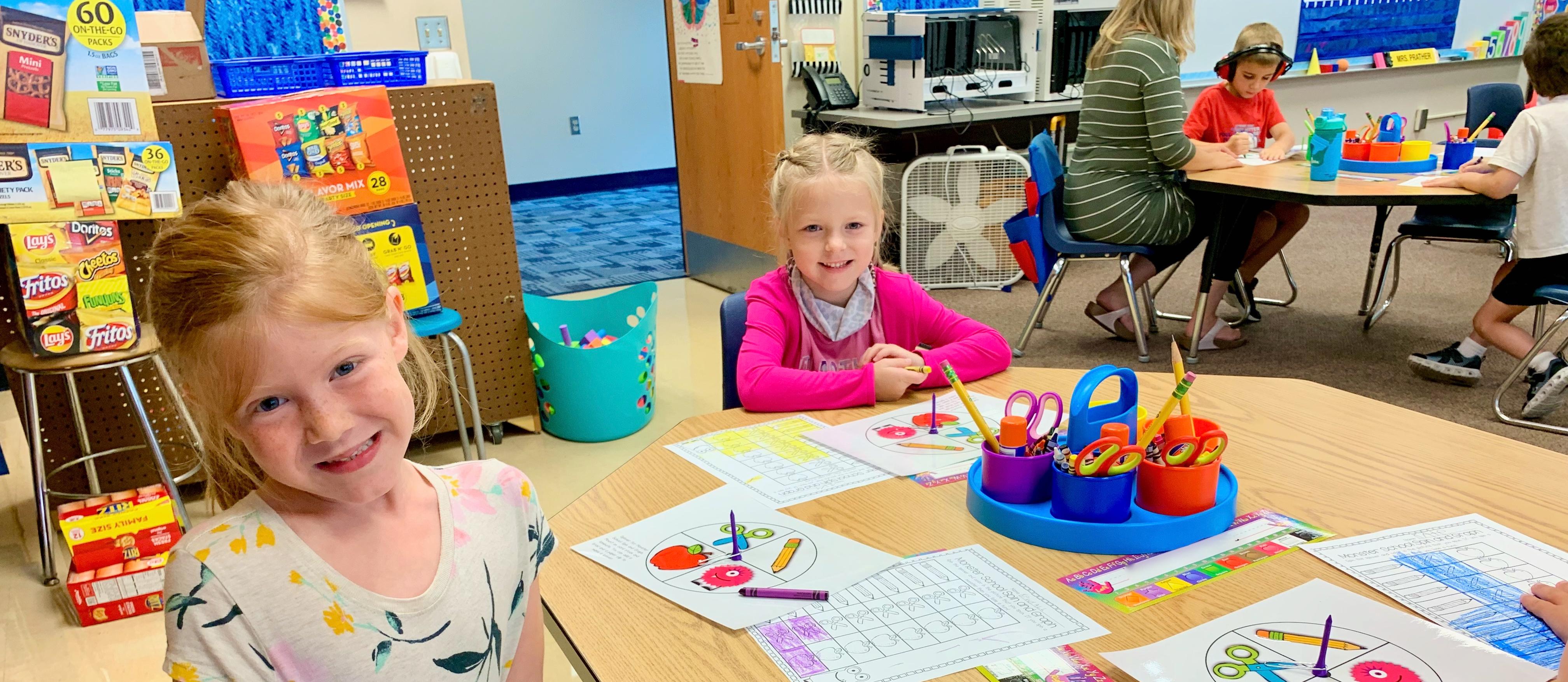 In Kindergarten, it's all smiles