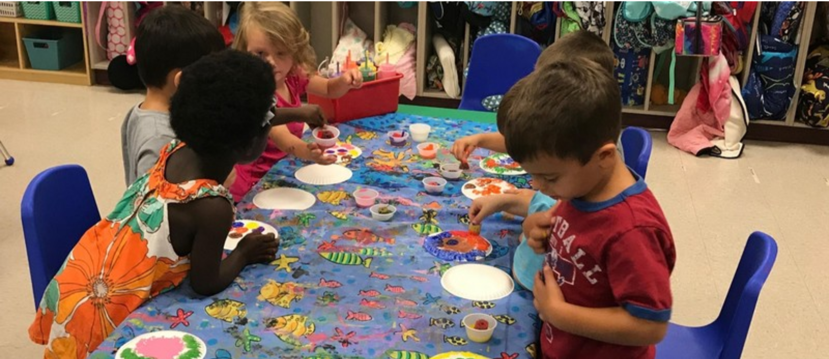 photo of students working on crafts