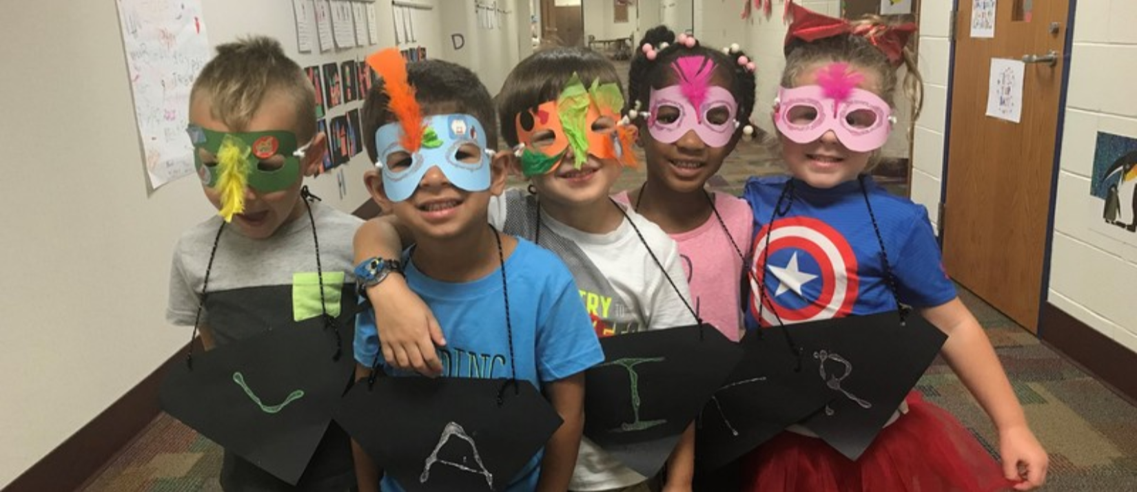 photo of students with masks on