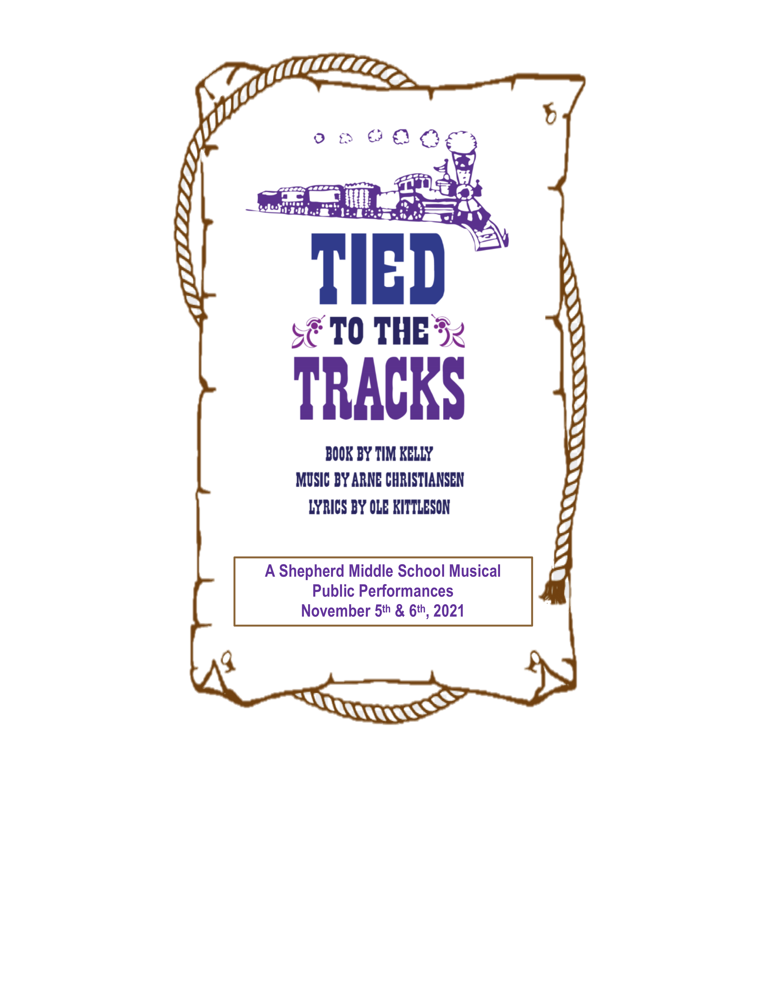 Tied to the Tracks - MS Drama Poster