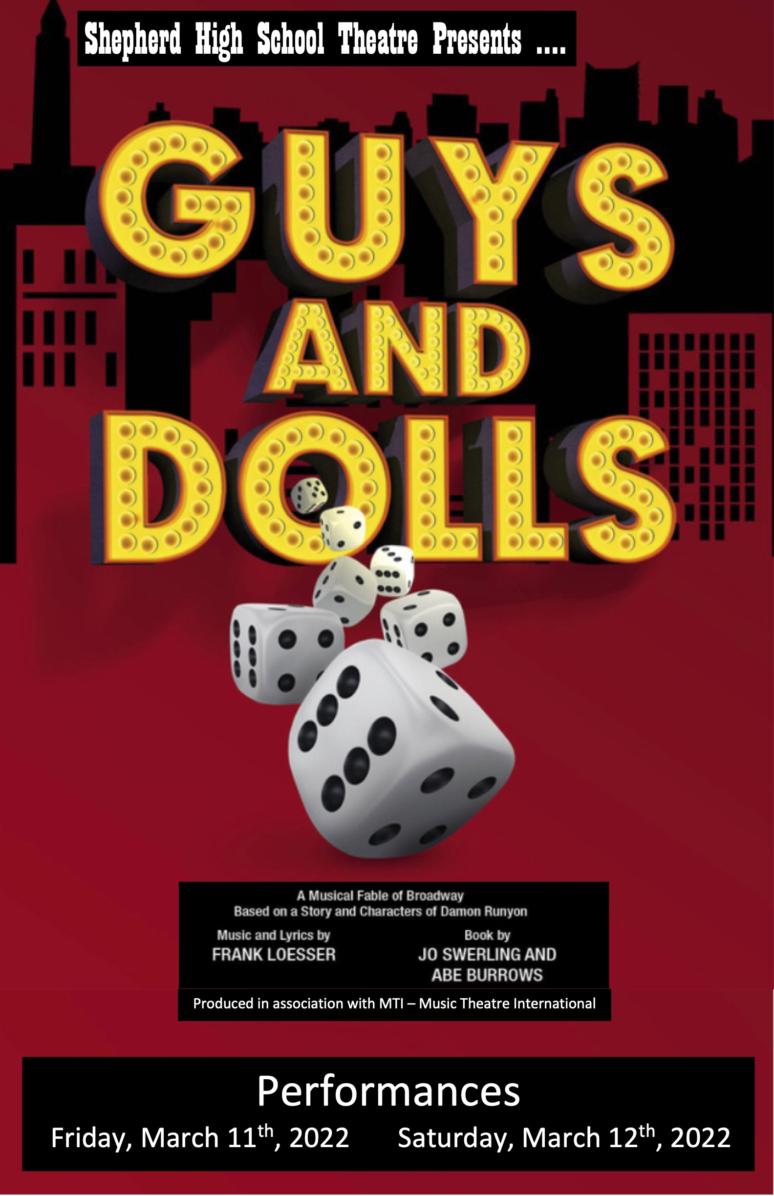Guys and Dolls Advertisement poster