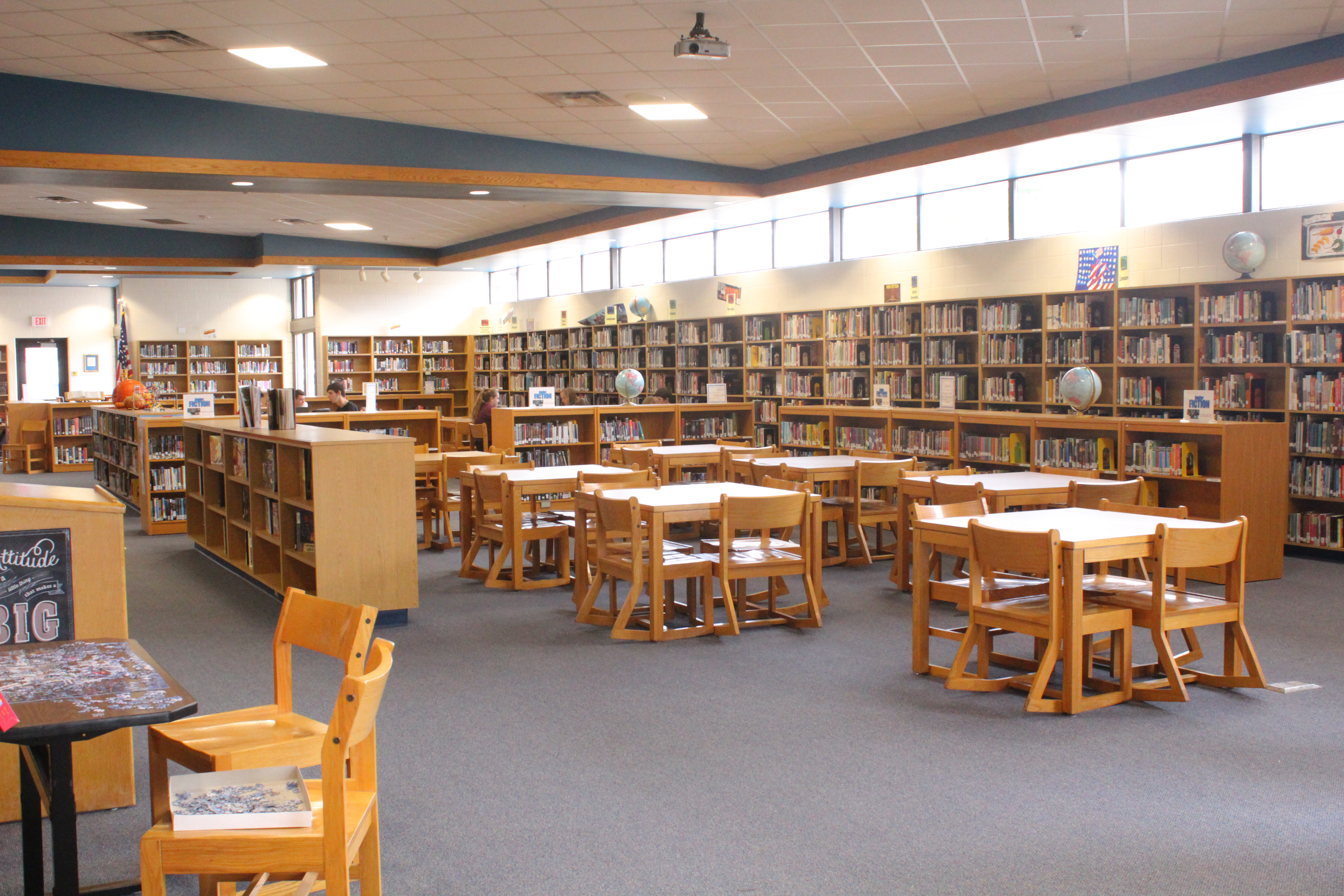 A photo of the library.