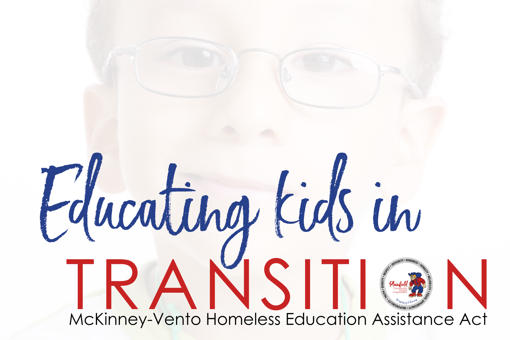 graphic for McKinney-Vento Act: educating children living in transition