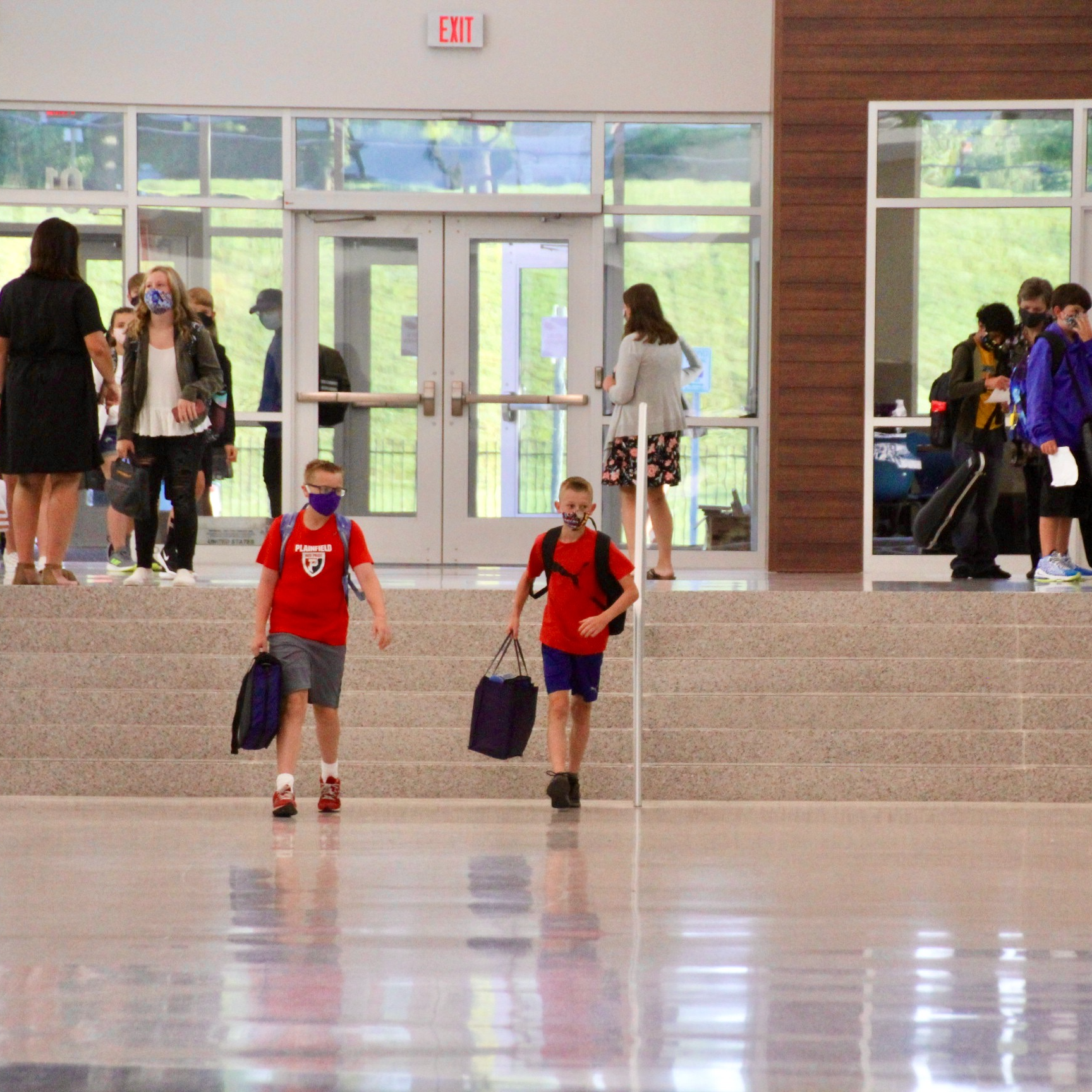 PCMS students were eager to get back to school, especially since they were returning to beautiful renovations.