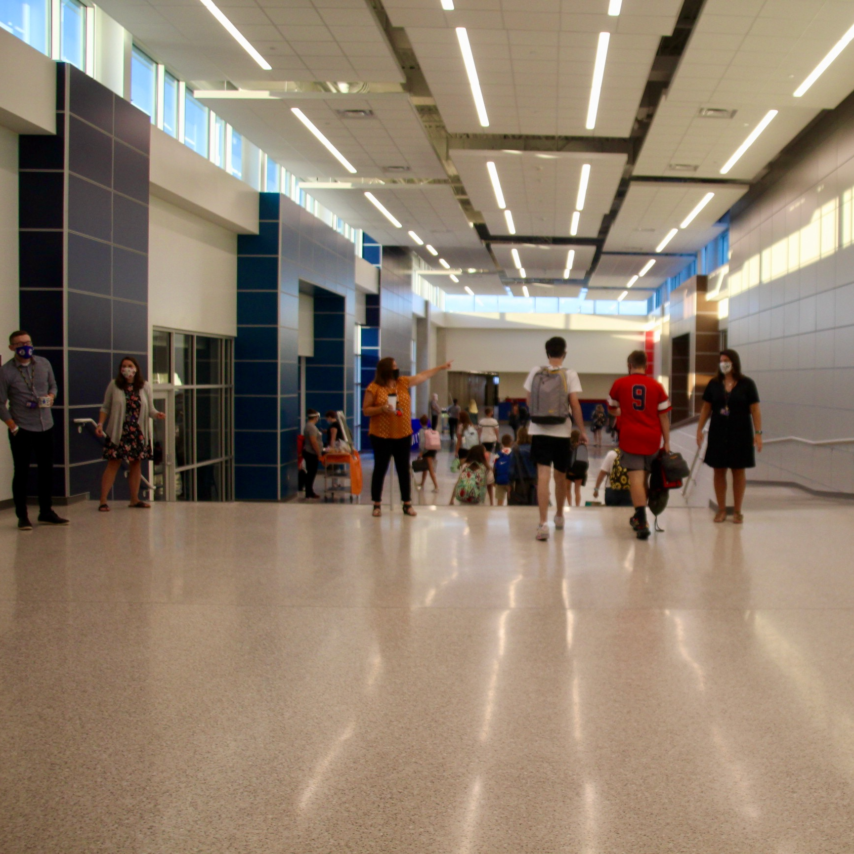 The #FDOS was even more exciting since PCMS students returned to renovations that added many new features.