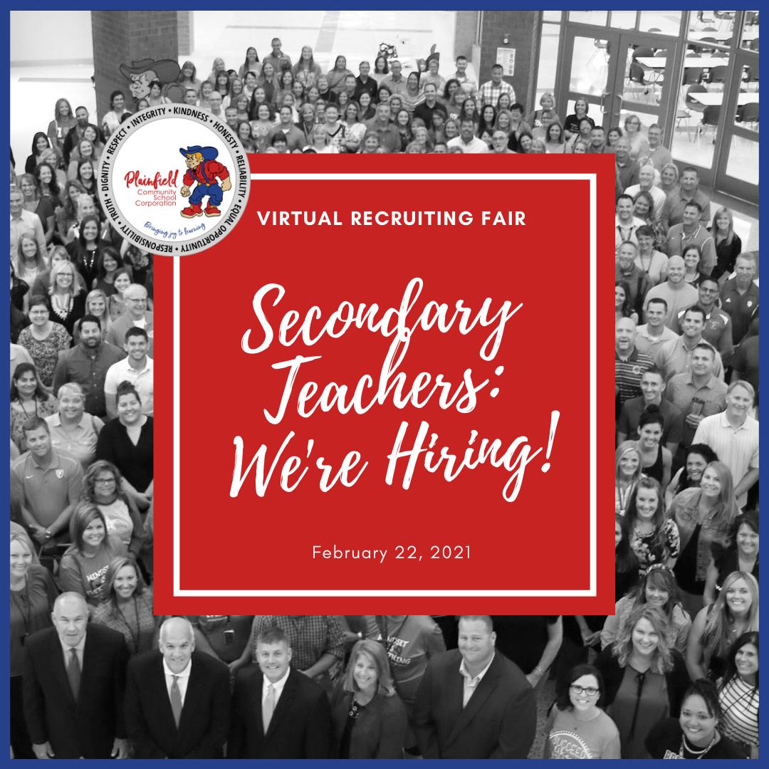 2021 Secondary Teacher Recruiting Fair