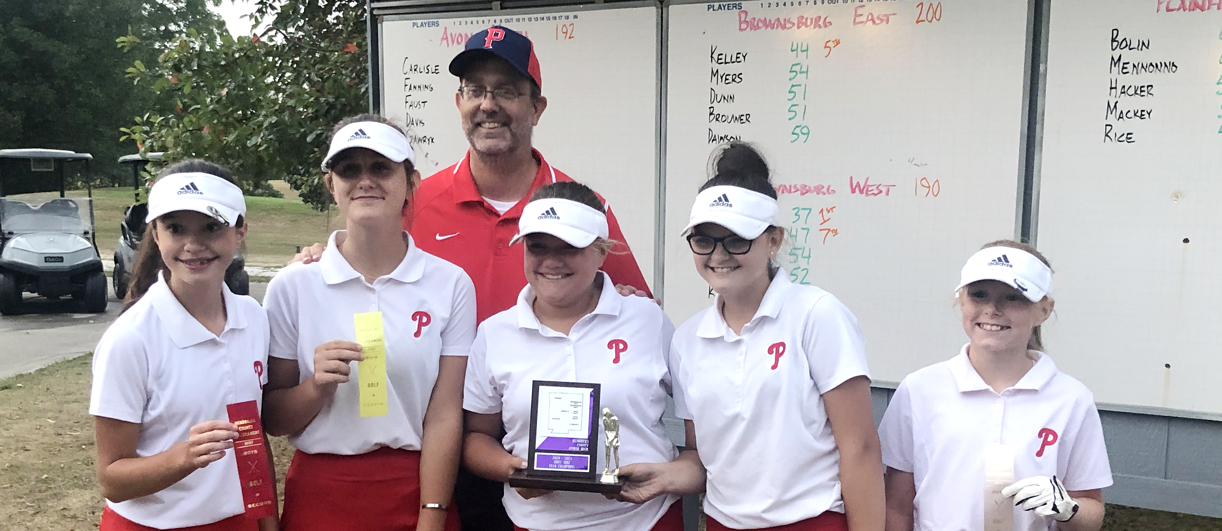 PCMS Girls  Golf team: County Champs!
